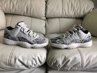 Tenis Air Jordan Retro 11 Low Snake Skin Light Bone Del 24mx
