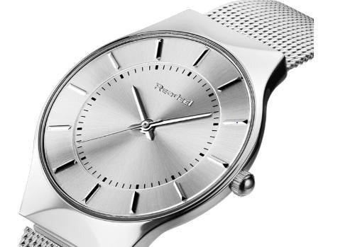 Relógio Readeel Unissex Aço Inox Ultra Fino Slim Promoção