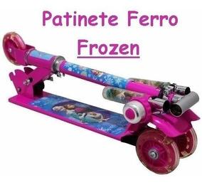 Patinete Infantil Frozen Ferro Menina Brinquedo!envio Rápido