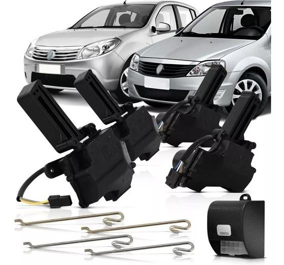 Kit Trava Elétrica Sandero Renault Dedicada Especifica 4 Pts