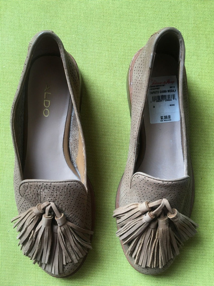Zapatos Aldo Dama Talla 23.5, Camel, Material Piel (vacuno)