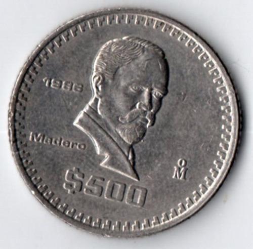Moneda Antigua 500 Pesos  Madero    1986             C7