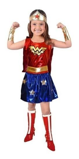 Disfraz De Mujer Maravilla Infantil