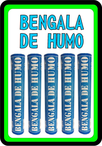 Bengala De Humo Celeste Fiestas Festejos Eventos Envios