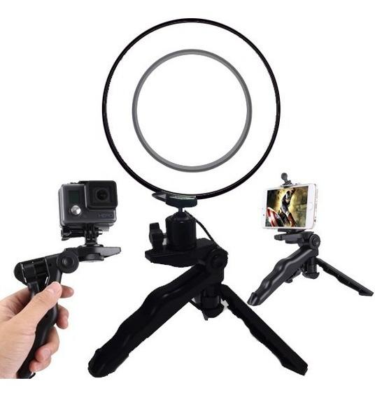 Kit Ring Light C/ Tripé Para Fotógrafos E Youtubers