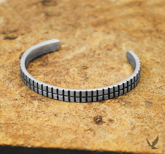 Bracelete De Prata Masculino Artesanal Modaro