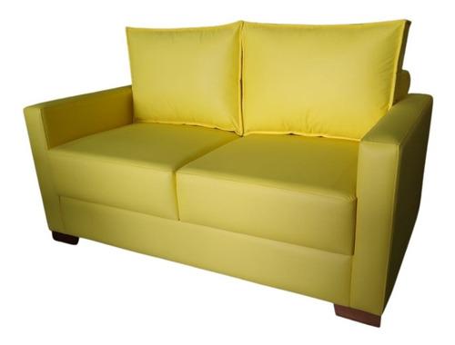 Imagem 1 de 4 de Sofa Lesh 2 Lug Encosto Macio Pé Cantoneira Pronta Entrega