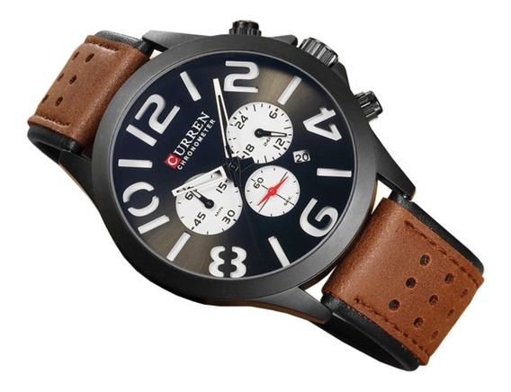 Relógio Masculino Casual Sport Luxo Curren Original + Caixa