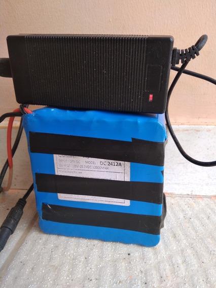 Bateria Litio Bike Eletrica 24 Volts 12 Amp C/ Carregador