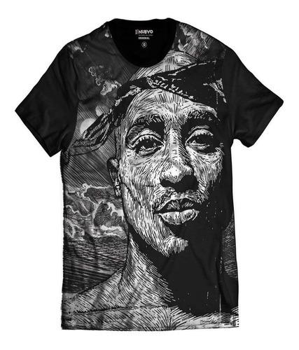 Imagem 1 de 5 de Camiseta Tupac Shakur Estilo Desenho 2pac Rap