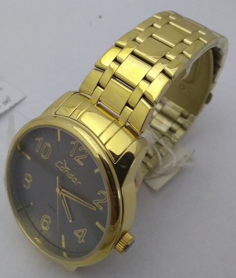 Relógio Condor Dourado Unisex Co2035kqn/4c Original Barato