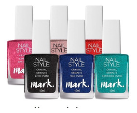 Kit Esmaltes 6 Crystal Nail Style Avon - Preço Promocional