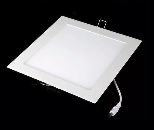 Kit 20 Luminarias Plafon Led 6w Embutir Maxtel Quadrado