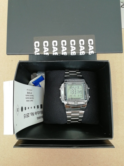 Relógio Casio Vintage Unissex Data Bank Db-360-1adf Usado