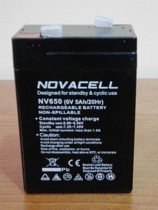 Imagen 1 de 5 de Batería De Repuesto Recargable Prinsel 6 Volts  5 Amp/20hr