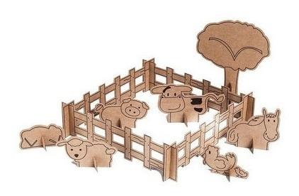 Brinquedo - Kit Fazendinha De Papelão
