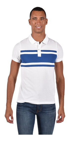 Polo Slim Fit Tommy Hilfiger Blanco Mw0mw10477-100 Hombre