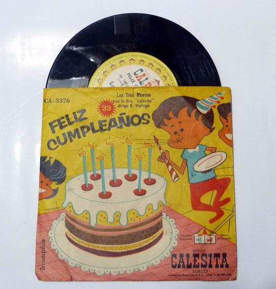 Disco Infantil Calesita Feliz Cumpleaños Las Tres Marias (b)