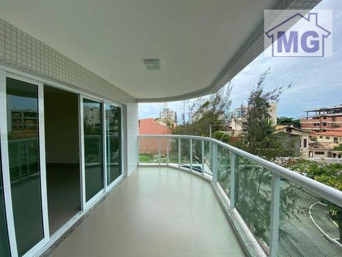 Apartamento Com 3 Dormitórios Para Alugar, 130 M² Por R$ 3.300,00/mês - Praia Do Pecado - Macaé/rj - Ap0407