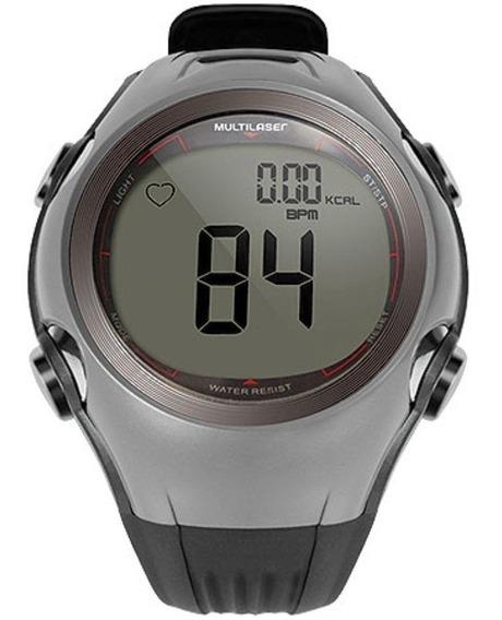Relógio Unissex Atrio Monitor Cardíaco Hc008 - Cinza/preto
