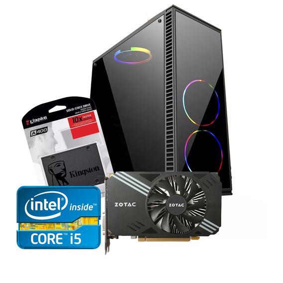 Cpu Gamer Intel/ Core I5/ 8gb/ 1tb Ou Ssd 240/gtx 1050ti 4gb