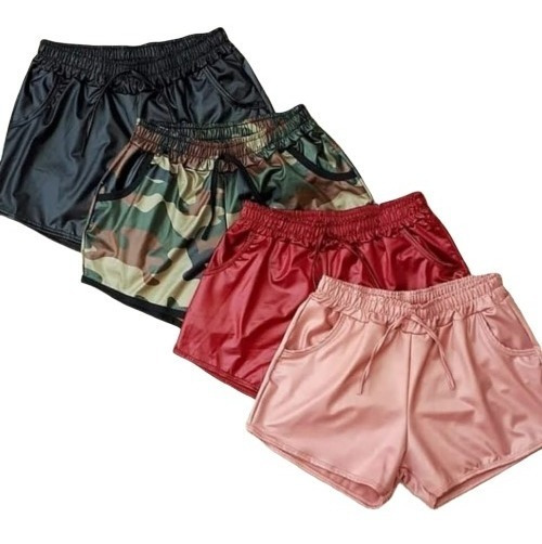 Kit 10 Shorts Feminino Box Tecido Cirre Varias Cores Revenda
