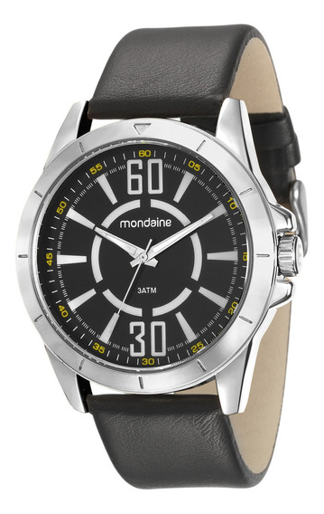 Relógio Pulseira De Couro Mondaine Original 76669g0mvnh1