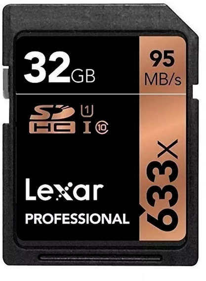 Sd Lexar Tarjeta Memoria 32 Gb 633 X 95 Mb/s 4 K Clase 10