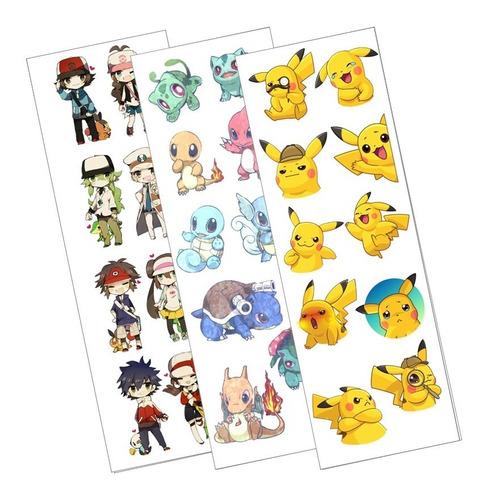 Plancha De Stickers De Anime De Pokemon Charizard Bulbasaur