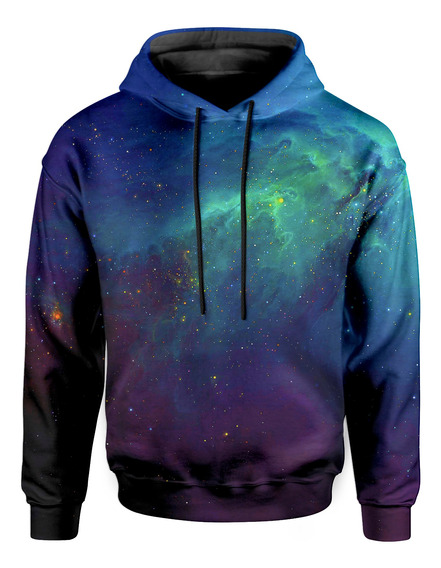 Moletom Com Capuz Unissex Galaxia Nebulosa Md04