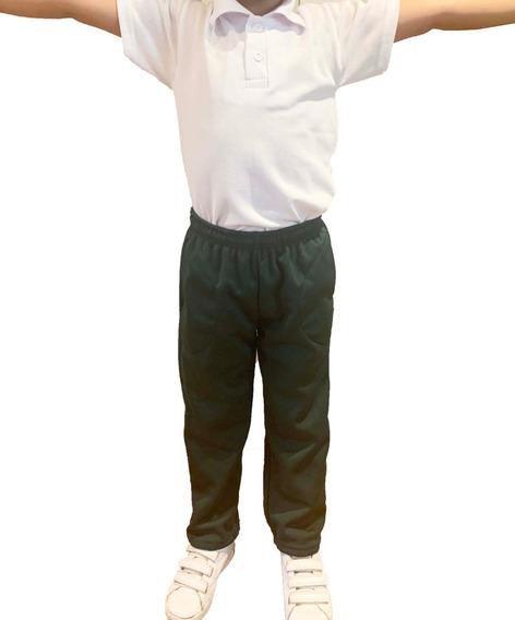 Pantalon Verde Escolar Frizado Niña/niño Talles 4 Al 14