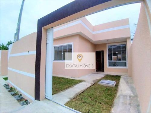 Imagem 1 de 11 de Casas Com Terraço Próximas Ao Comércio/escolas, Jardim Mariléa, Rio Das Ostras. - Ca1017