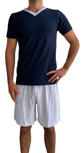 Imagen 1 de 6 de Pijama Para Hombre Conjunto Playera Y Bermuda Alfani Premium