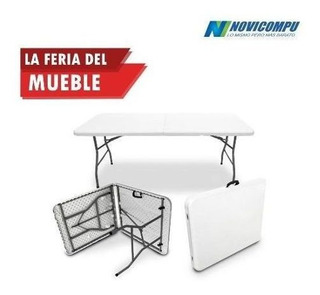 Mesa Plegable Color Blanco 1,80mx0,75m Importada De Calidad