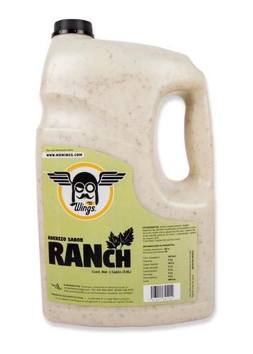 Mr Wings Ranch en galón 3.8L