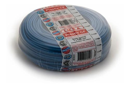 Imagen 1 de 3 de Cable Unipolar 4mm Celeste Rollo 100 Metros Imsa Plastix Cf