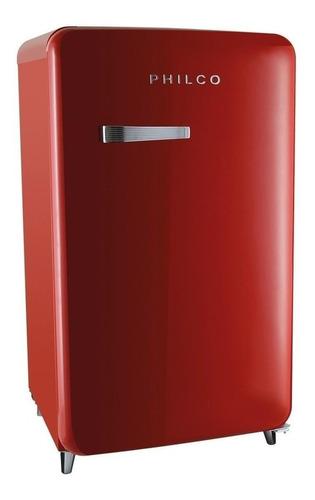 Geladeira/refrigerador 121 Litros 1 Portas Vermelho Vintage - Philco - 220v - Pfg120