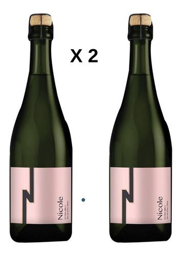 Imagen 1 de 3 de Vino Rosado Nicole Brut Pack 2 Bot. Cava Quintanilla 750 Ml