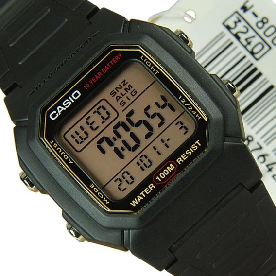 Relogio Casio W-800h Prova Dagua 100m Série Ouro Original