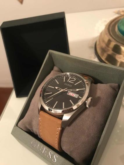 Relógio Guess - Pulseira De Couro - Usado 2x. Na Caixa.