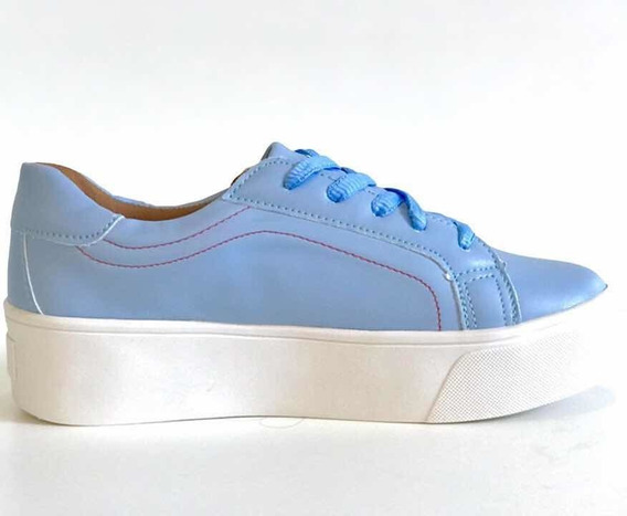 Tênis Casual Feminino Sola Alta Flatform Sapatênis Conforto Mostarda Vinho Azul Novo Verão 2020 Lindo 12x Frete Grátis