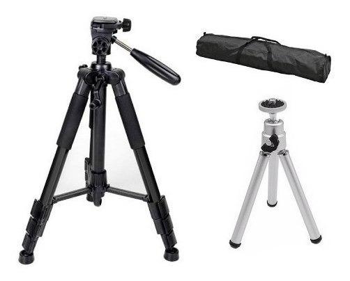 Tripé Universal Fotográfico Canon Nikon 1,50 Mt + Mini Tri