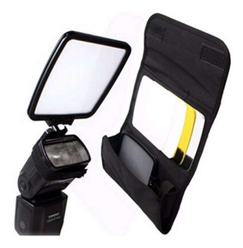 Difusor De Flash Speedlight Rebatedor 4 Lados 4x1 Embutir
