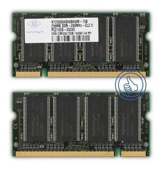 Memoria Ram Ddr1 256 Mb. Pc2100s