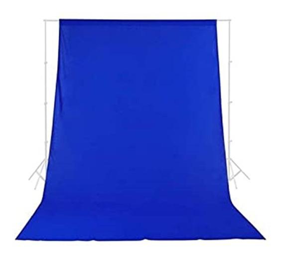 1 Tecido 3x6 Azul Chroma Fundo Infinito Estúdio Fotográfico