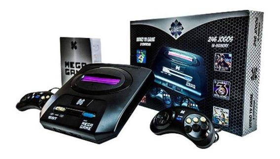Console Vídeo Game Retro Com 126 Jogos Mega Drive