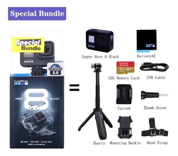 Câmera Gopro Hero 8 Black Especial Bundle