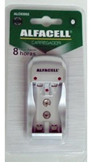 Carregador De Pilhas Aa/aaa/9v Alfacel Alc63002 C/3 Unidades