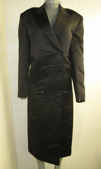 Abrigo Talla 42l Color Negro Marca European Clothing