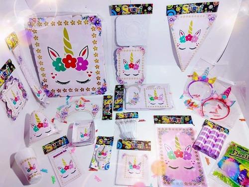Kit Decoración Piñata Unicornio Económica